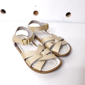Girls Saltwater Sandals Gold